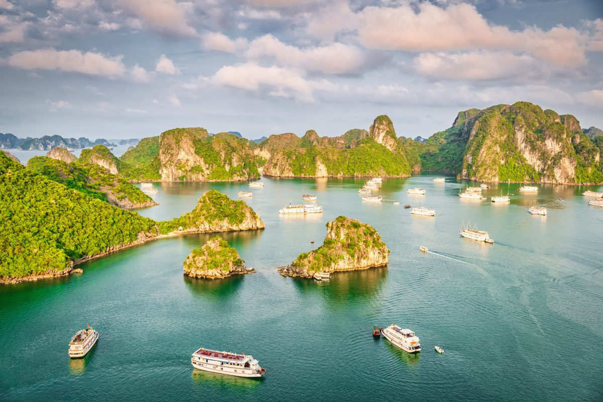 Aerial View Halong Bay Scenic Vietnam