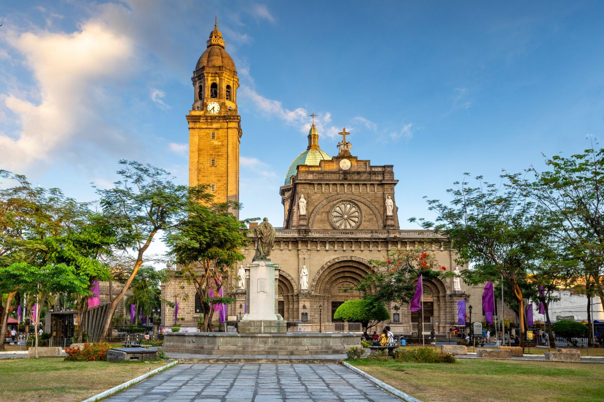 Facade of Manila Cathedral