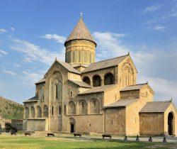 Sweti Cchoweli cathedral standing in Mccheta, Georgia