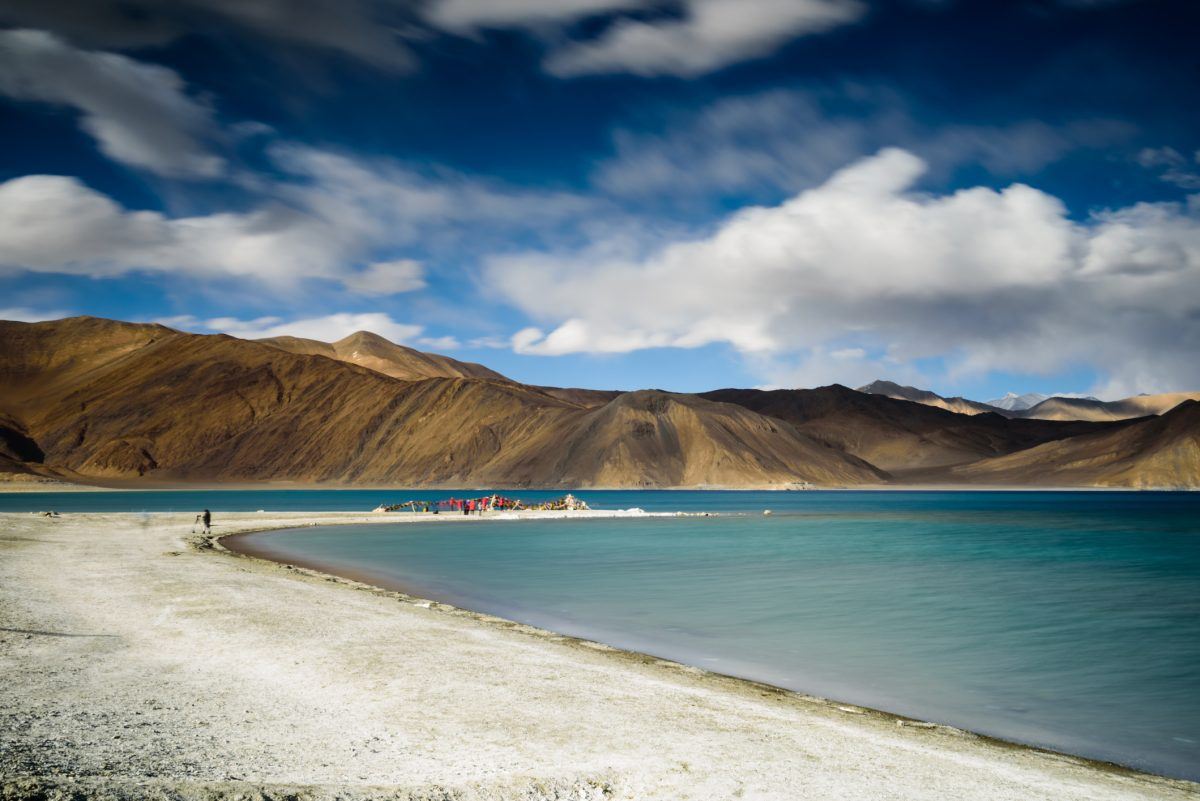 Long exposure of pangong lake