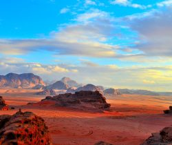 Sunset of Wadi-Rum