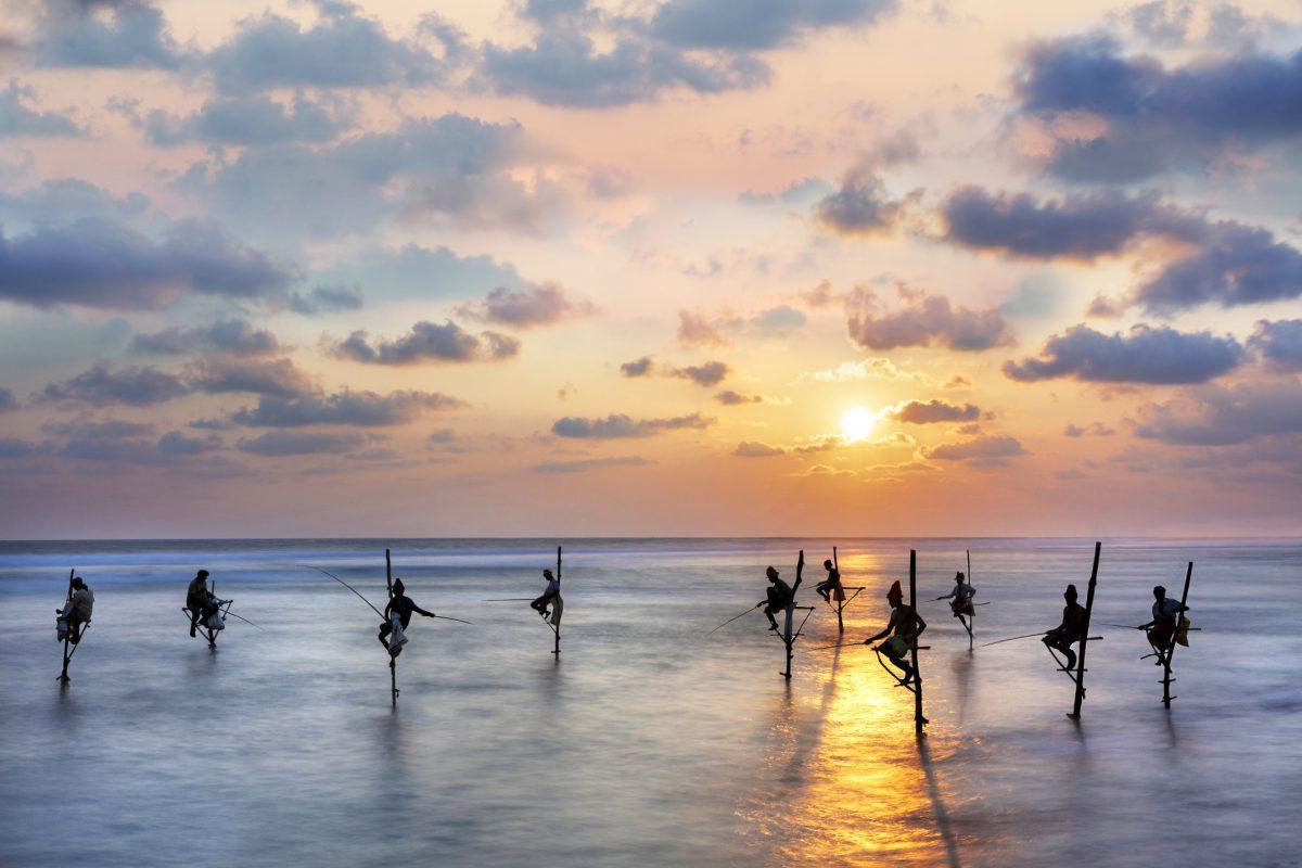 Fishermen on stilts, Sri Lanka