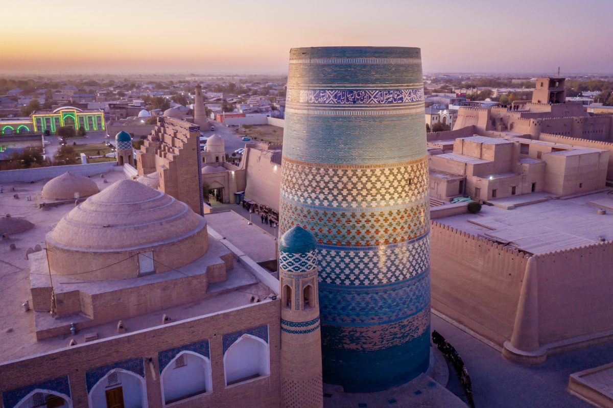 Khiva Sunset Uzbekistan Kalta Minor